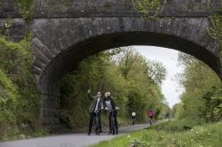old rail trail greenway linking the river shannon in athlone with the royal canal in mullingar co westmeath thumbnail