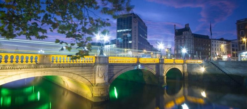 visit dublin o connel bridge
